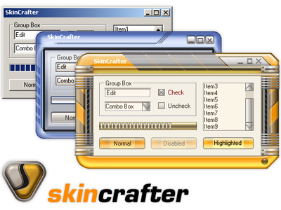 Unique skin for your software only is simply implemented with SkinCrafter skins engine. No matter what your developing language is SkinCrafter will work for you. We are sure as we offer SkinCrafter as ActiveX and .Net component. Check our free demo!